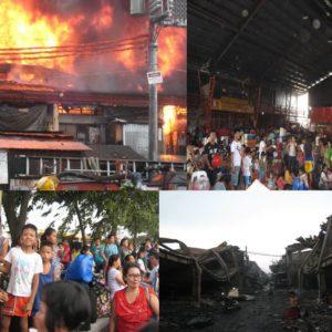 Tondo (Manila), il fuoco distrugge le abitazioni