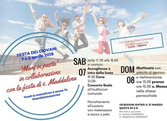 Save the date: il 7 e l'8 aprile la Festa dei giovani